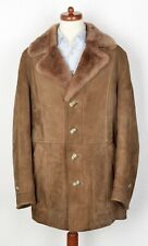 Shearling Mantel Coat Leder Leather Stoichart Gr 56 Braun Brown CLASSIC Suede