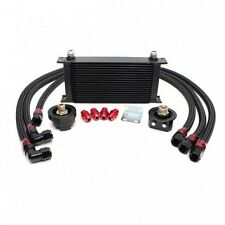 REV9 19 ROW OIL COOLER+RELOCATION KIT TURBO /NA 2JZ JZA80 SUPRA 7MGTE CELICA MR2