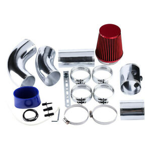 3in 76mm Car Racing Cold Air Intake System Kit +Filter +Clamp +Accessories