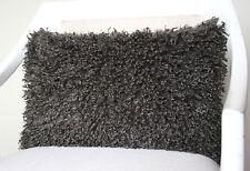 Kissenhülle Kissen Femke 27x43 Flokati grafit ganz weich Dekokissen Proflax