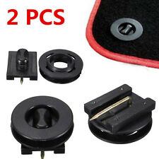 2 x Car Mat Carpet Clips Fixing Grips Clamps Floor Holders Sleeves Premium