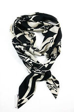 Ralph Lauren Collection Black White Floral Pattern Scarf