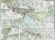 Alte Landkarte  إسلام ISLAM 1055 - 1163 Seldschuken Selçuklular Türken 1877