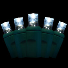 LED Christmas Lights - 20 pure white leds - 5mm conical wide-angle lenses