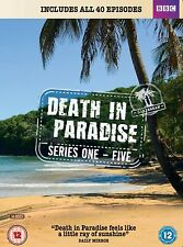 DEATH IN PARADISE Series 1-5 DVD Set BRAND NEW (Region 2 - Not USA Compatible)