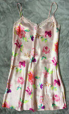 SATIN/LACE CAMI NIGHTIE SIZE 10 COLOUR PINK FLORAL