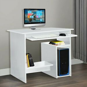Small Compact Computer Desk Study PC Table Home Office Workstation Furniture UK
