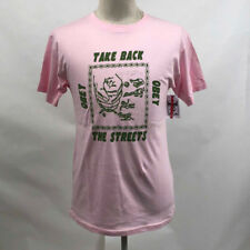Obey Men's T-Shirt Take Back the Streets Pink Size M NWT Shepard Fairey Chain