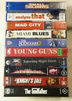 Bulk VHS Lot of 10: Godfather, A Knights Tale, Young Guns, Miami Blues+++