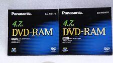 PANASONIC DVD-RAM 4.7 GB Type 2 Disk Single Sided Cartridge Rewritable LM-HB47V