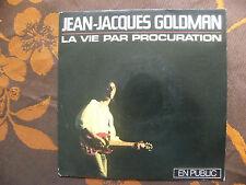 """SP JEAN JACQUES GOLDMAN """"La vie par procuration"""" (Live) EPIC EPC 650136 7 (1986)"""