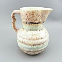 VTG Czechoslovakia Creamer Pitcher Art Pottery Multicolor Marbleized EUC