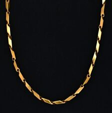 Men's 18K Gold Plated Stainless Steel Connection Chain