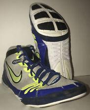 New Nike Freek Wrestling Shoes White/ Yellow/ Royal Blue Mens Size 12 🔥🔥🔥