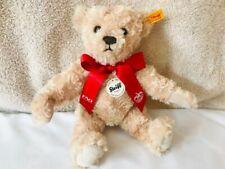 Steiff Elmar Teddy Bear Plush 11in 28cm ID Tags FAO Schwarz Tan Brown 2015 Issue
