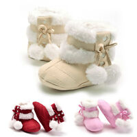 Newborn Baby Girl Toddler Infants Winter Soft Warm Snow Boots Shoes 0-18 Months