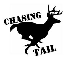 Car window decal truck outdoor sticker hunting hunt buck deer funny chasing tail