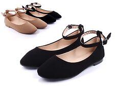 Black nn Cute Dress Buckle Strap Formal Kids Youth Girls Flats Shoes Size 3