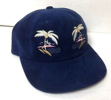 8cceb415396af new HUF WORLDWIDE PALM TREE HAT Velvet-Look Low Profile Dad Cap Navy Blue  Beach