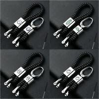 Fashion Braided Leather Strap Key Chain Ring Car Key Fob Keychain for All Models