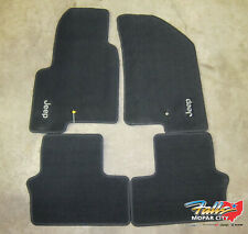 2014-2016 Jeep Compass/Patriot Front & Rear Black Carpeted Floor Mats MOPAR OEM