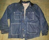 Bob Barker Denim Jacket Blanket Lined Work Prison Coat Blue Mens Large 42/44