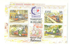 Ireland-Railways min sheet (945) Singapore overprint