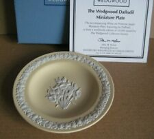 Wedgwood Jasperware Yellow Daffodil Miniature Plate Limited Edition