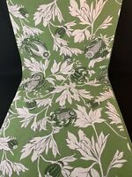 """Williams-Sonoma Table Runner Green & White Floral 16"""" x 104"""" 100% Cotton"""