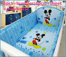 Mickey Mouse Crib Baby bedding cribs for babies cot bumper bed around piece set