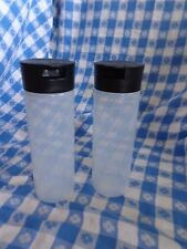 TUPPERWARE New CONDIMENT DISPENSERS SQUEEZE IT BOTTLES Set of 2 in Black