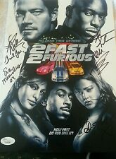 Paul walker and Cast of 2 fast 2 furious signed 9X12 JSA  HOLIDAY SALE