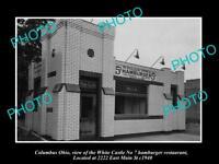 OLD LARGE HISTORIC PHOTO OF COLOMBUS OHIO, WHITE CASTLE HAMBURGER STORE c1940 3