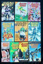 Bundle of 10 vfn-/vfn Amazing Heroes Mags 51 65 78 79 84 93 94 105 162 176