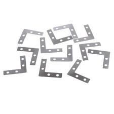 100x Angle Plate Corner Brace Flat L Shape Repair Bracket Picture Frame 38mm