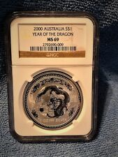 2000 Lunar Dragon NGC MS69 (Rare find in this condition)