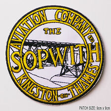 "Sopwith Aviation Company Kingston Logo ""camel"" Ww1 Embroidered Iron-on Patch"