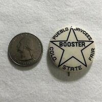 Colorado State Fair Booster Pueblo Jaycees Vintage Pinback Button #36653