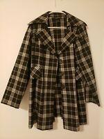 Lane Bryant Black & White Plaid Lighweight 3 Button Blazer Jacket Plus Size 16