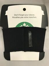 Starbucks Reusable Cup Sleeve 2012 ~ Black With Starbucks Trademark