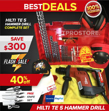 Hilti Te 5 Hammer Drill Preowned Free Knife Set Free Extras Fast Ship
