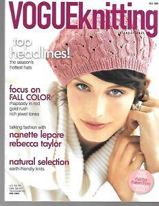 Vogue Knitting Magazine Fall 2009 Earth Friendly Knits, Seasons Hottest Hats