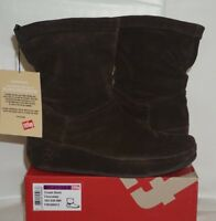 Women's Fitflop Boots Crush TM, Chocolate - Size US 10