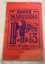 Smoke Marijuana Vintage Poster 1960s Headshop  Pot, Weed 10x13 Water Damage Rare