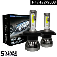H4/HB2/9003 Coche Faro LED Lámpara Replace Blanco Bombilla 6000K COB 36W-MINI1