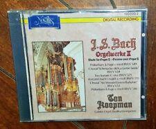 Bach Works For Organ II by Ton Koopman (CD, 1988, Novalis)
