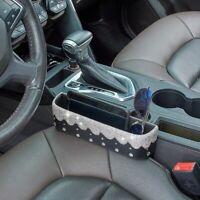 Bling Car Seat Crevice Storage Box Caddy Gap Pocket Cup Holder Phone Organizer