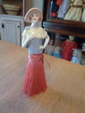 "Antique/vintage China Half Doll Brush~Germany~8.5""~"
