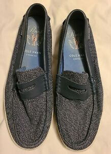 Pinch Marine Classics Cole Haan blue canvas slip on loafers size 9.5M