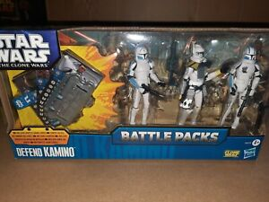 STAR WARS BATTLE PACKS THE CLONE WARS DEFEND KAMINO W GAME CARDS SEALED